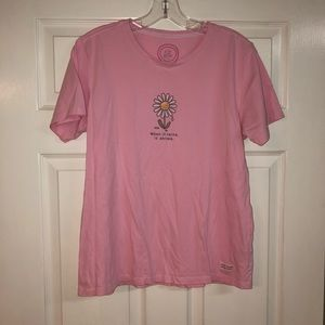 Life Is Good Light Pink Tee w/ Daisy